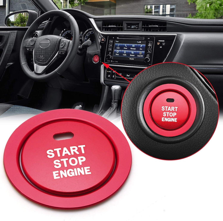 Red Xotic Tech 4pcs Car Interior Door Handle Bowl Cover Trim Frame Decor for Toyota Camry 2018 2019 2020