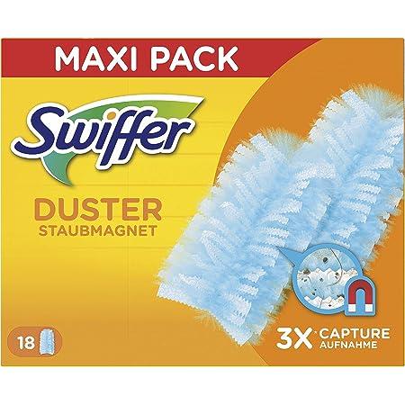 Swiffer Duster Ricambi per Piumino Catturapolvere, Catturano e Intrappolano fino a 3 Volte più Polvere e Peli Rispetto a un Piumino Tradizionale, 18 Pezzi
