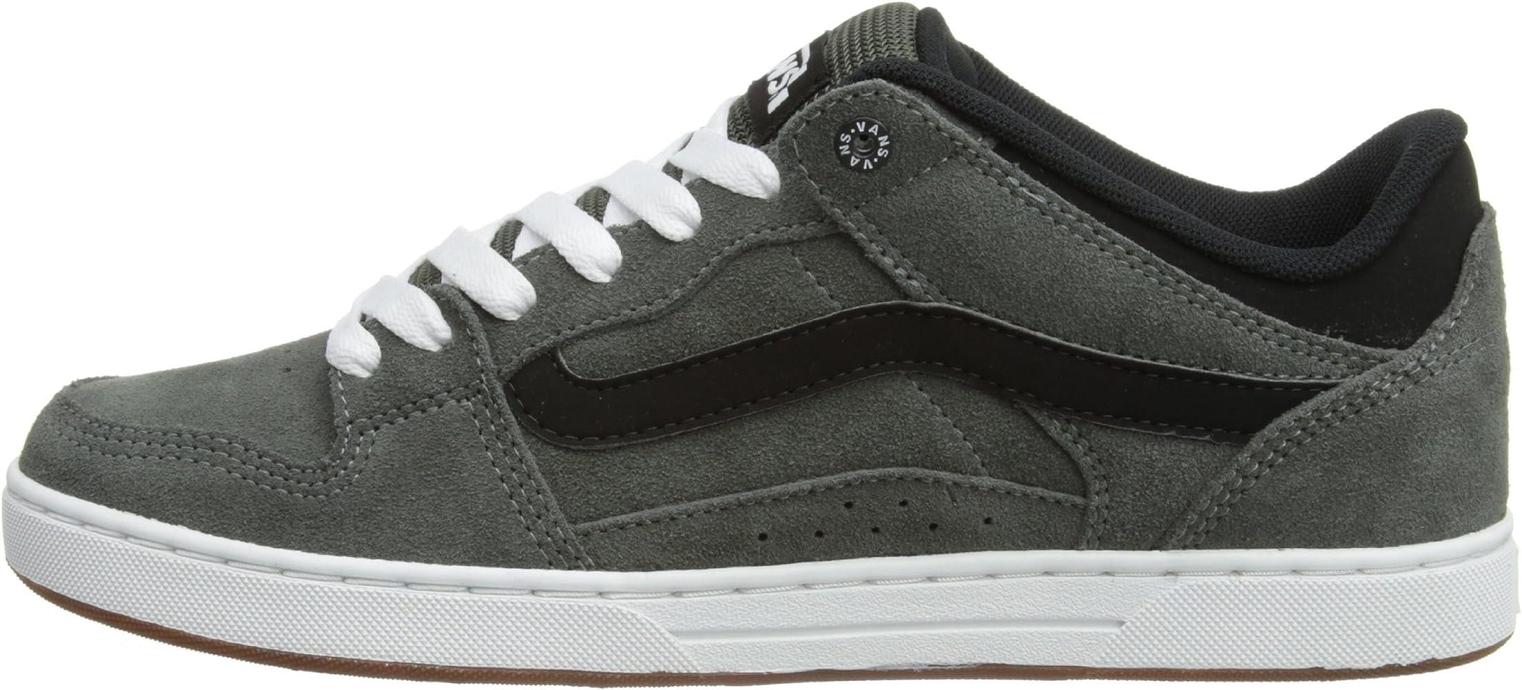 Amazon.com | Vans Baxter S12 Mens Shoes Charcoal Black white (10 ...