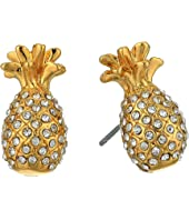 Kate Spade New York - By The Pool Pave Pineapple Mini Studs Earrings