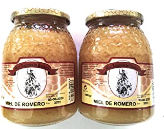 Miel de Romero 2 Tarros de 1 kilo de de miel de máxima calidad