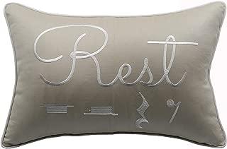 YugTex Pillowcases Rest Pillow, Music Teacher Gift, Music Lover Gift, Music Pillowcase, Music Gift, Music Room Decor, Music Room Pillow Covers (Rest(Natural), 12