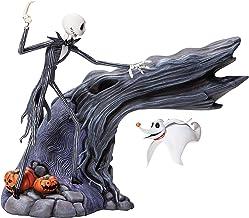 Enesco Grand Jester Studios Disney Nightmare Before Christmas Jack Skellington and Levitating Zero Lit Animated Figurine, ...