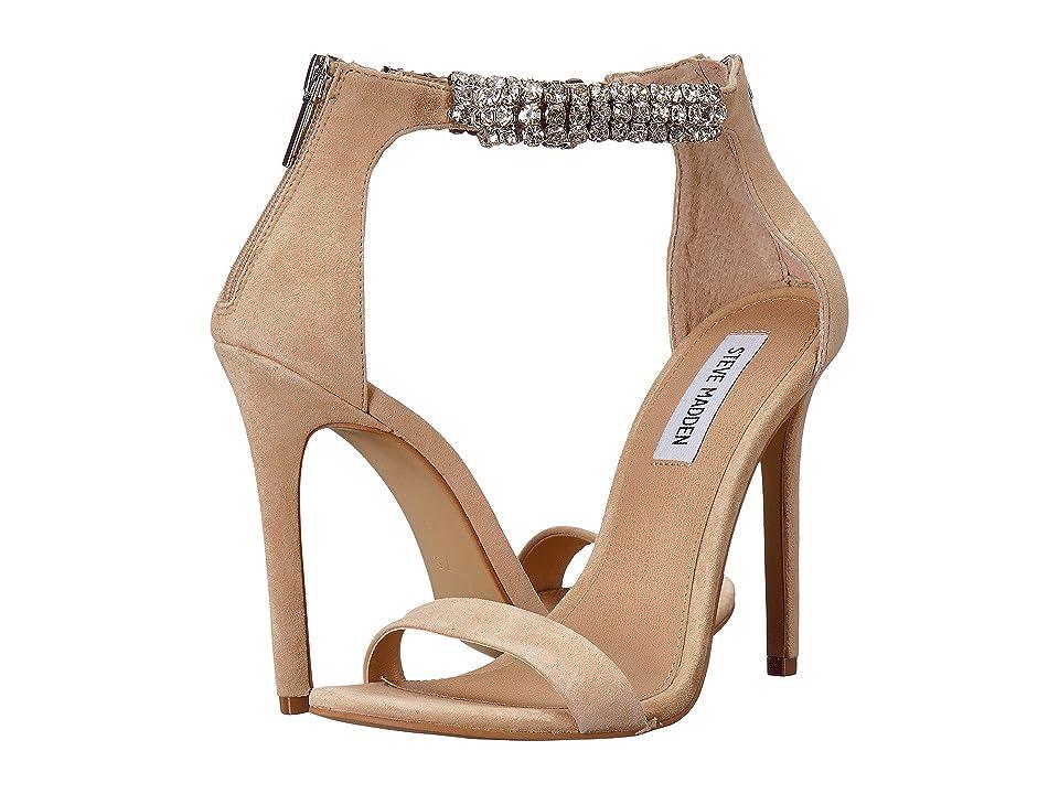 Steve Madden Rando Heeled Sandal (Natural Suede) Women