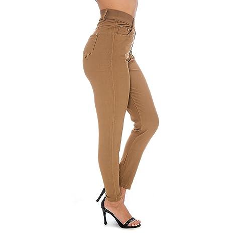 80981c1b5124 Unique Styles Women s Basic Jeggings Leggings Stretchy 5 Pockets Pants  Regular Plus Sizes