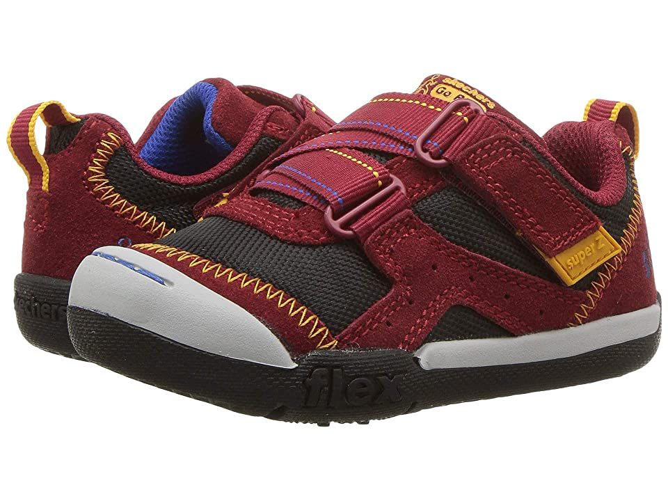 SKECHERS KIDS Flex Play-Easy Pick (Toddler/Little Kid) (Burgundy/Black) Boy