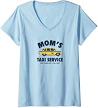 Womens Mom's Taxi Service Funny Busy Parent Mother's Day Gift  V-Neck T-Shirt