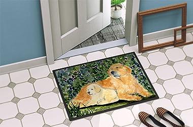 """Caroline's Treasures SS8852MAT Golden Retriever Indoor Outdoor Doormat, 18"""" x 27"""", Multicolor"""