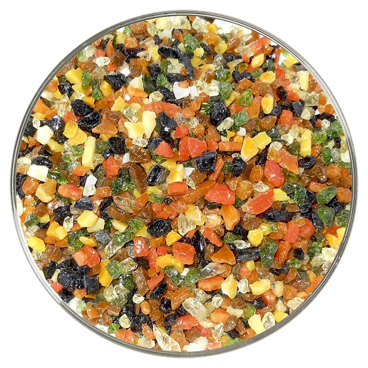 Cinnamon & Spice Designer Fusible Glass Coarse Frit Mix - 4oz - 90COE - Made From Bullseye Glass