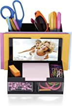 OfficemateOIC Versa Plus Deluxe Photo Desk Organizer, 7 Compartments, Black (23112)