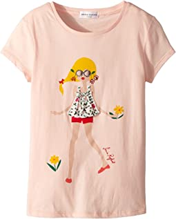 Sonia Rykiel Kids - Antilla Short Sleeve T-Shirt w/ Rykiel Girl Design on Front (Toddler/Little Kids/Big Kids)