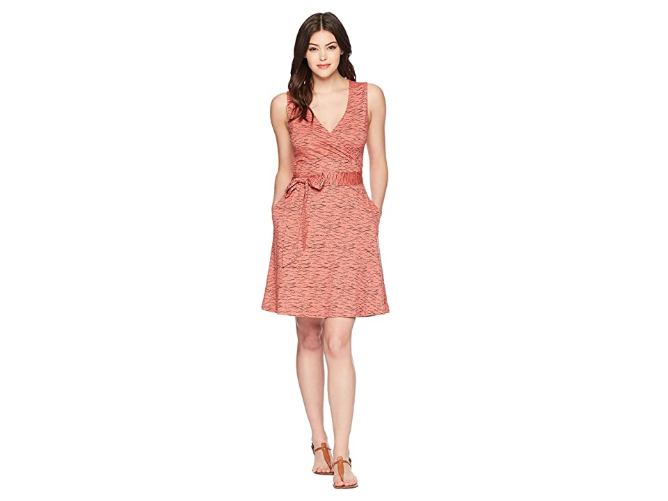 Toad&Co Cue Wrap Sleeveless Dress (Guava Wave Print) Women