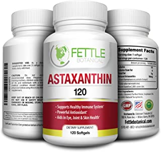 Astaxanthin 120 Softgels 10mg Supplement Strong Carotenoid Antioxidant Helps Optimal Immune Response Skin Health Reduced E...