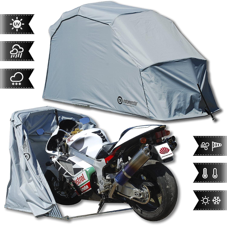 Motorrad Faltgarage - Motomonster faltbare motorradgarage L Grau