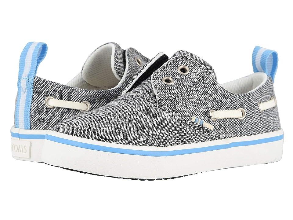 78c51f126 TOMS Kids Pasadena (Toddler Little Kid) (Black Slub Chambray) Boy s Shoes