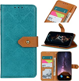 Cellphone case For OPPO Reno5 Pro European Floral Embossed Copper Buckle Horizontal Flip PU Leather Case with Holder & Car...