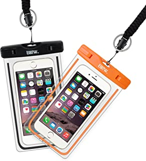 EOTW 2 Pack IPX8 Universal Waterproof Case for Smartphone Device to 6