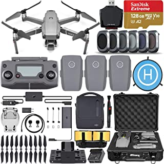 DJI Mavic 2 Pro Drone Quadcopter with Hasselblad Camera, Fly More Combo, 3 Batteries, 6 Piece Filter Kit, SanDisk Extreme 128GB Memory Card, Aluminum Shock Proof Case and More