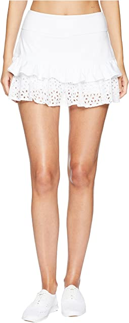 Kate Spade New York Athleisure Eyelet Ruffle Skirt