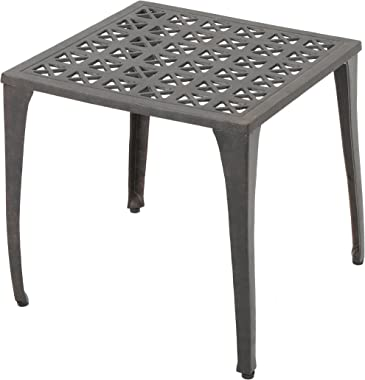 "Christopher Knight Home Kai Outdoor 18"" Cast Aluminum Side Table, Bronze Finished"