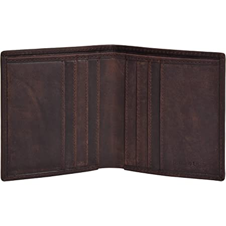 Amazon Brand - Eono Small Leather Wallets with RFID- 2 Note Compartment Ultra Slim Wallet for Men & Women