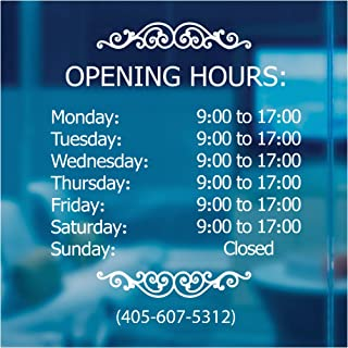 LokaUS Professional Business Hours Sign Kit, 20x20 Inches Changeable Signs for Business, Customize Window Sign for Business, Outside Hours of Operation Sign, Open Store Hours Sign (Outside)