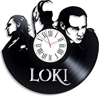 Kovides Tom Hiddleston Handmade Gift Wall Clock Exclusive Unique Decoration Marvel Comics Superhero Film Vintage Vinyl Rec...