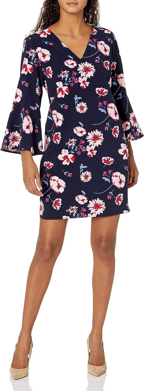 Mud Pie Women Moonlight Garden Mila Bell Sleeve Dress