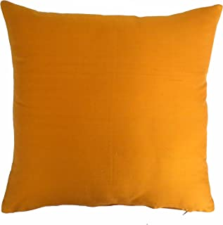 Silk Throw Pillow Cover Orange 15x15 inch Pack of2 100% Pure Silk Dupioni Cushion Cover NO INSERT INCLUDED