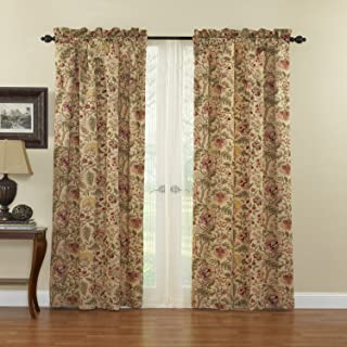 Waverly 10985042X084AN Imperial Dress 42-Inch by 84-Inch Single Window Panel, Antique