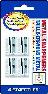 Staedtler Handheld Pencil Sharpeners, Graphite, 4 pieces (510 10 BK4),Silver
