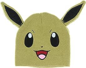 bioWorld Pokemon Eevee Big Face Fleece Cap Beanie with Ears