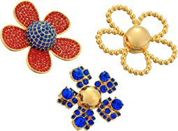 Daisy Pave Brooch Set