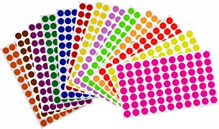 Royal Green 15mm Round Stickers Label 19/32 of an inch (Approximately 5/8)- Easy to Remove Labels in 13 Colors 1.5cm - 1001 Pack