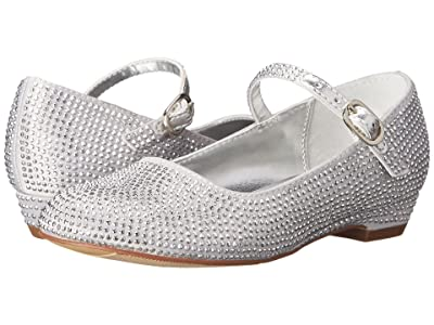 Nina Kids Zelia-T (Toddler/Little Kid) (Silver Satin) Girls Shoes