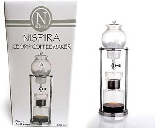 Nispira Luxury Ice Cold Brew Coffee Maker Dripper in Stainless steel, 600 ml