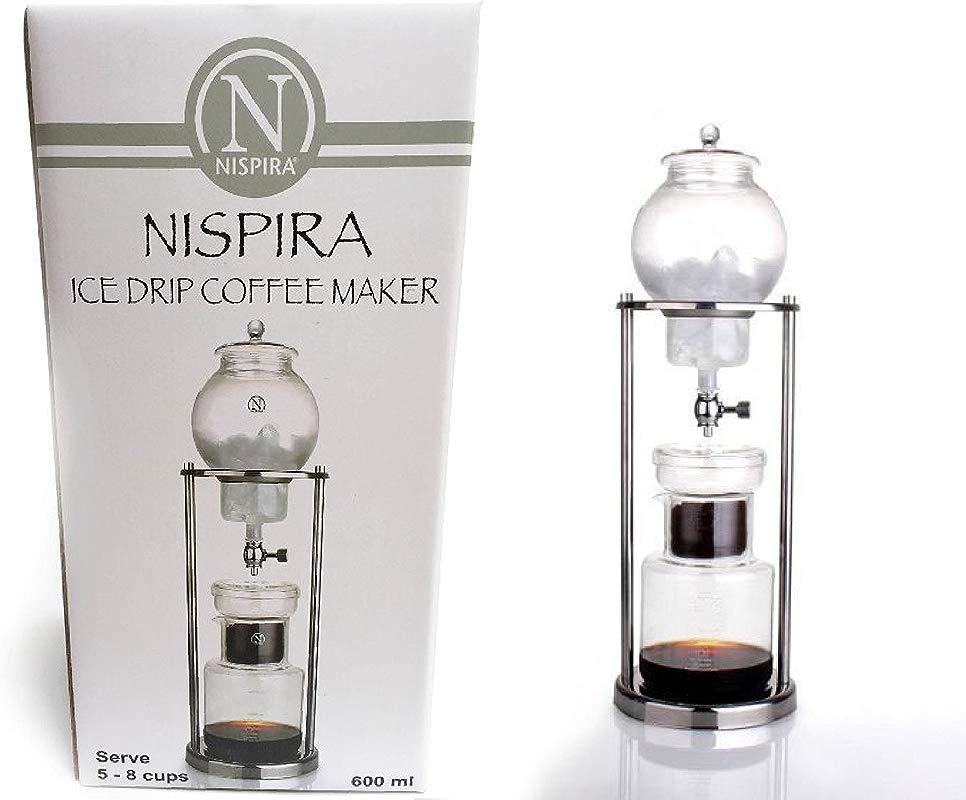 Nispira Luxury Ice Cold Brew Coffee Maker Dripper In Stainless Steel 600 Ml