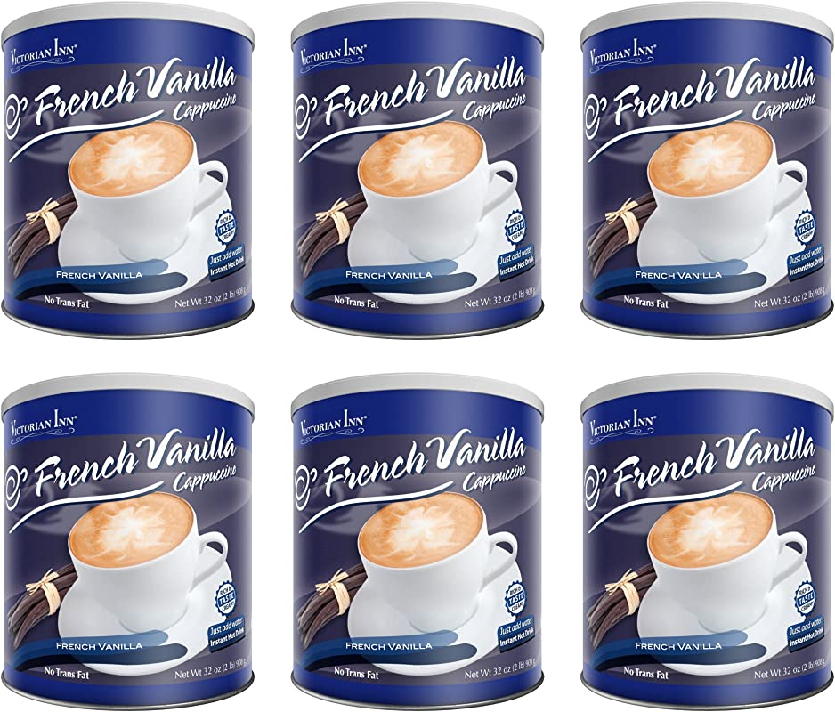 Victorian Inn Instant Cappuccino French Vanilla 32 Ounce Canisters Pack Of 6
