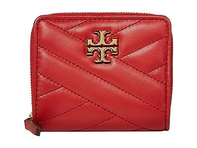 Tory Burch Kira Chevron Bifold Mini Wallet (Red Apple) Handbags