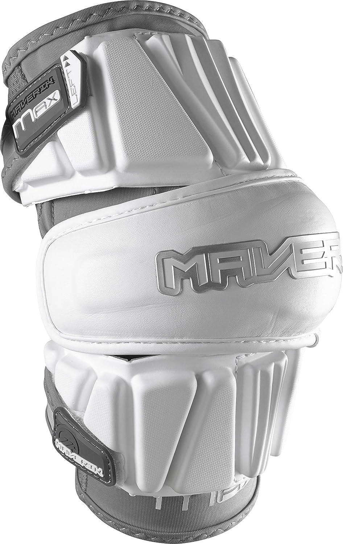 Shipping included Maverik Latest item Lacrosse Max Arm Pad White Large -