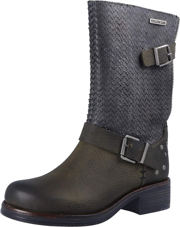 Gelb Cab DEEP W Y28157 Damen Stiefel Grün Grau  | Großer Verkauf