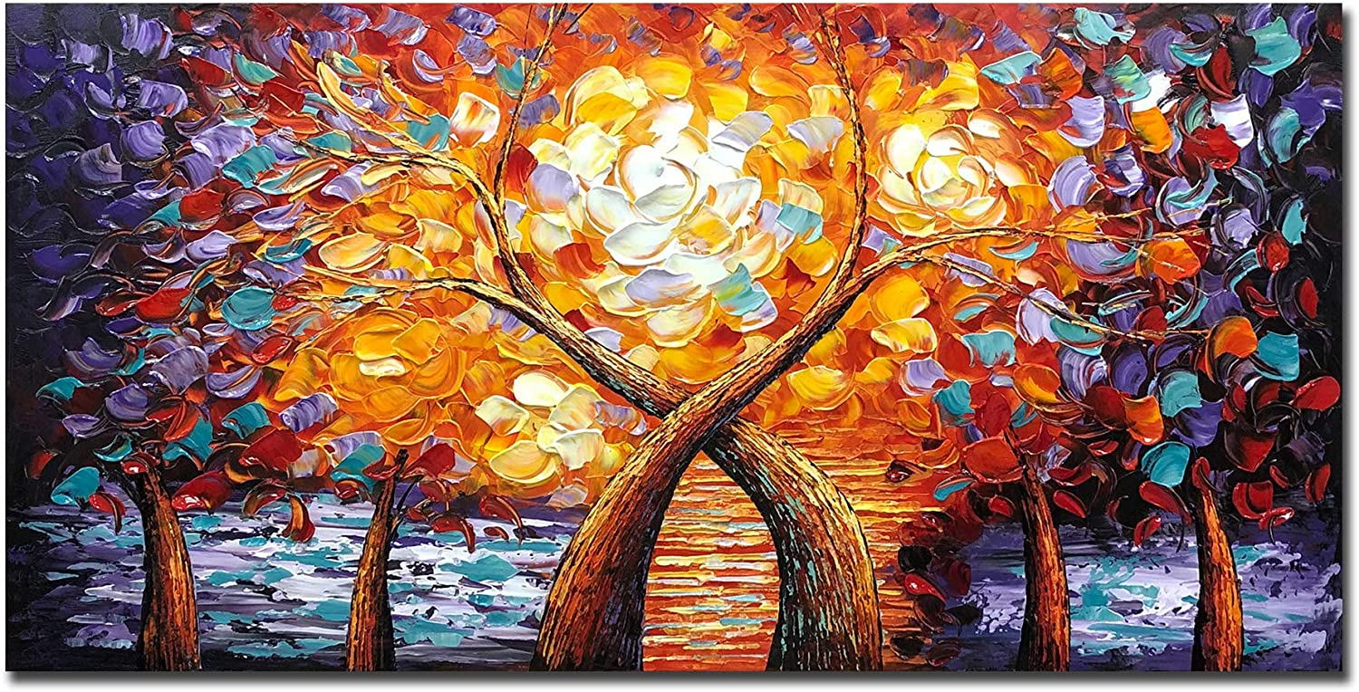 New product type V-inspire art 24 X Branded goods 48 Inch Modern Canvas Wall Oil Tree