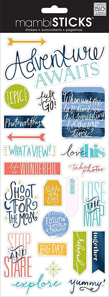 me & my BIG ideas Just Go Travel Sticker
