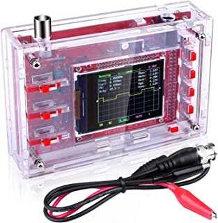 """Quimat Pocket-Size Digital Oscilloscope Kit Open Source 2.4"""" TFT 1Msps with Probe and Protective Case, Welded Version (Case Needs to be Assembled)"""
