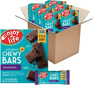 Enjoy Life Foods Chewy Bars, Cocoa Loco Nut Free Bars, Soy Free, Dairy Free, Non GMO, Gluten Free, 6 Boxes (30 Bars Total)...