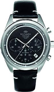 クヌートガッド Knut Gadd 腕時計 CULT CHRONO スポーツウォッチ クロノグラフ メンズ 男性用 ブラックダイヤル ブラックレザーベルト 3年保証