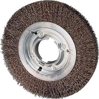 PFERD 81128 Power Crimped Wire Wheel Brush, Medium Face, Round Hole, Carbon Steel Bristles, 8