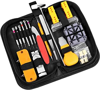 Ohuhu 156 PCS Watch Repair Tool Kit, Case Opener Spring Bar Watch Band Link Tool Set With..