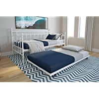 DHP Manila Twin Metal Daybed Frame and Twin Size Trundle (White)