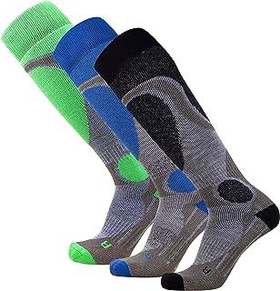 Pure Athlete Wool Elite Ski Socks Men – Lightweight Merino Wool Warm Skiing Sock, Women Snowboarding